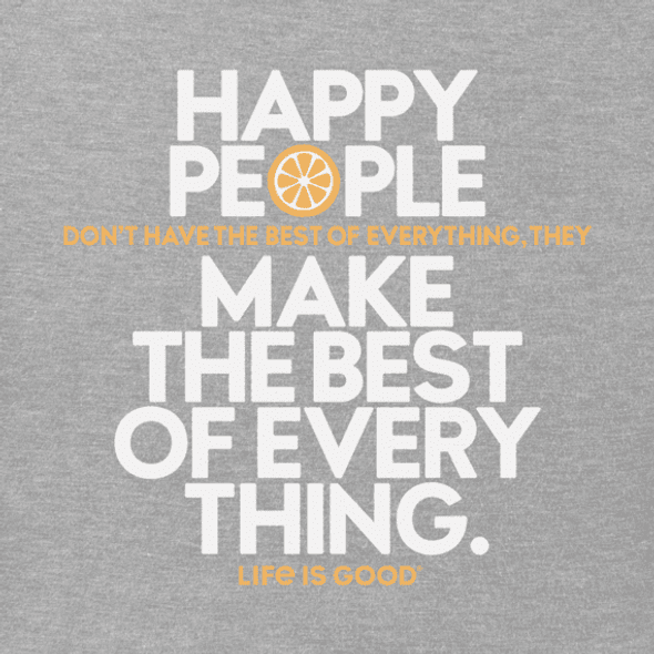 Happy People  vneck women's tee