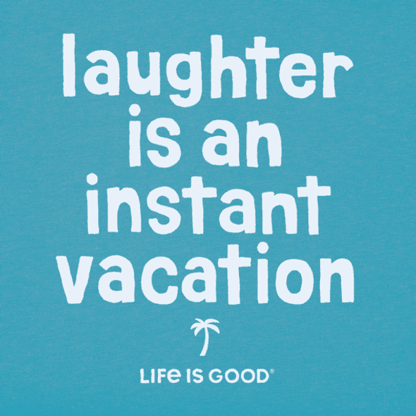 Laughter is Vacation v-neck women's tee