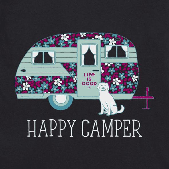 Floral Camper  v-neck women's tee