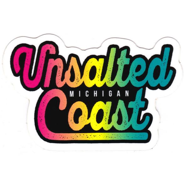 Unsalted Coast rainbow sticker