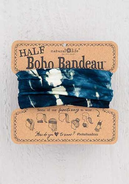 Tie Dye Indigo Half Boho Bandeau
