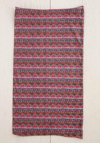 Mulit Scalloped Rows Print Boho Bandeau