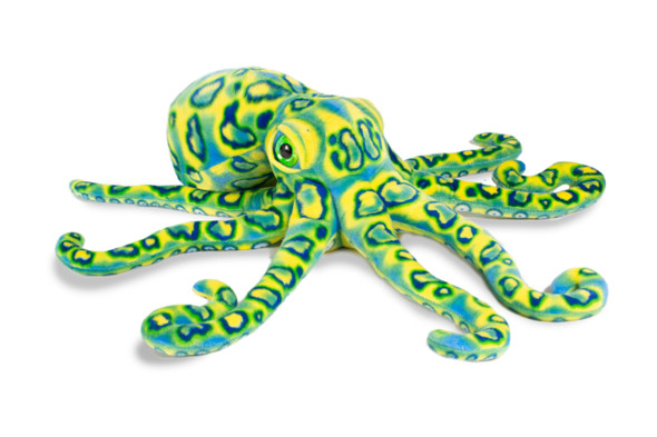 "Octopus 13"" blue green plush"