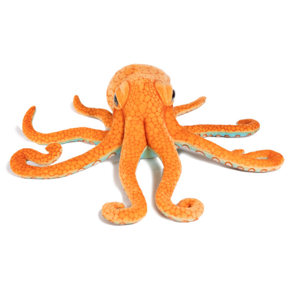 """Octopus 13""""orange/brown plush"""