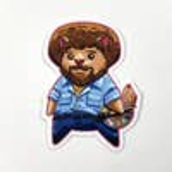 Bob Ross Popcat Vinyl Sticker
