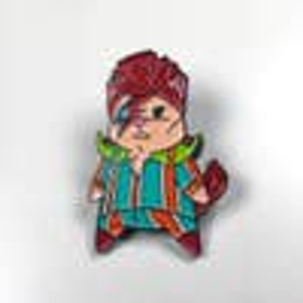 David Meowie Enamel Pin