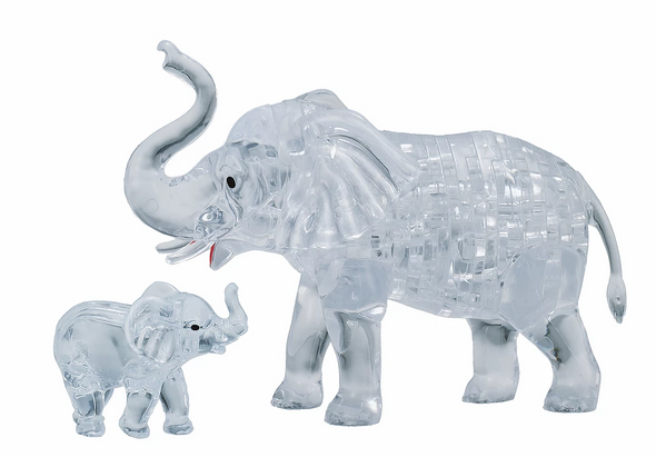 Original 3D Crystal Puzzle Elephant
