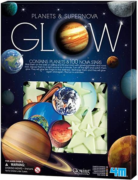Planets and Nova Stars Glow