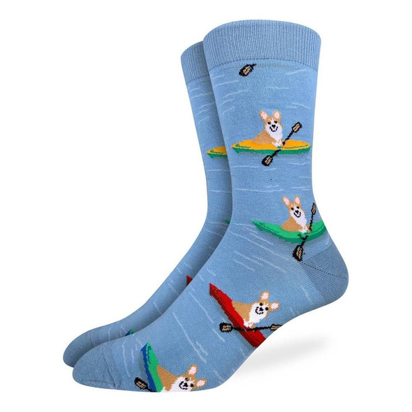 Corgis Kayaking Socks Size 7-12