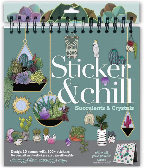Sticker and Chill Succulents & Crystals