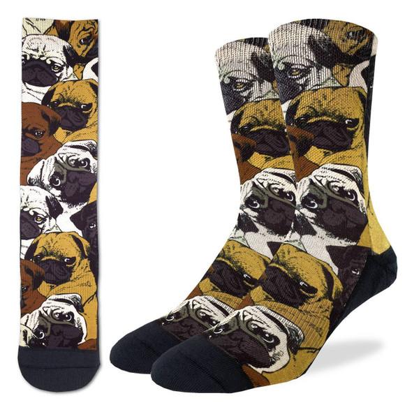 Social Pugs Socks Size 5-9