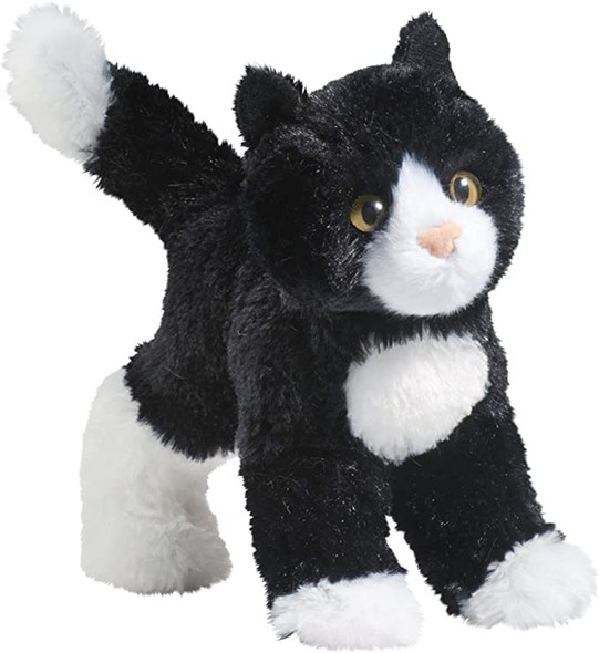 Snippy Black/White Cat Plush