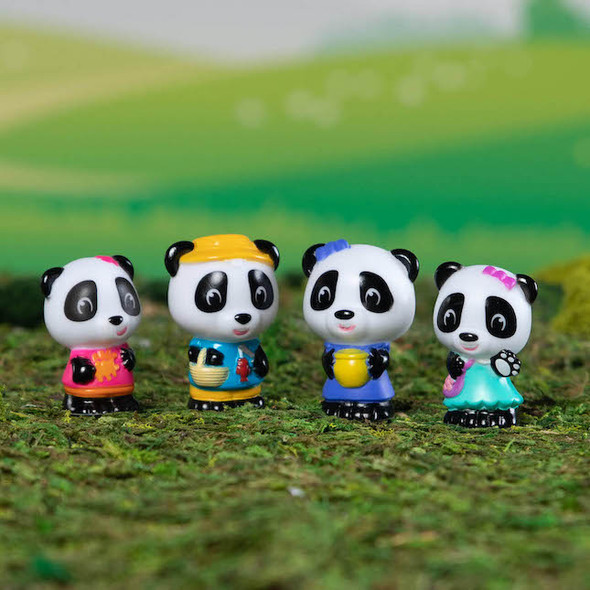 Timber Tots Panda Family