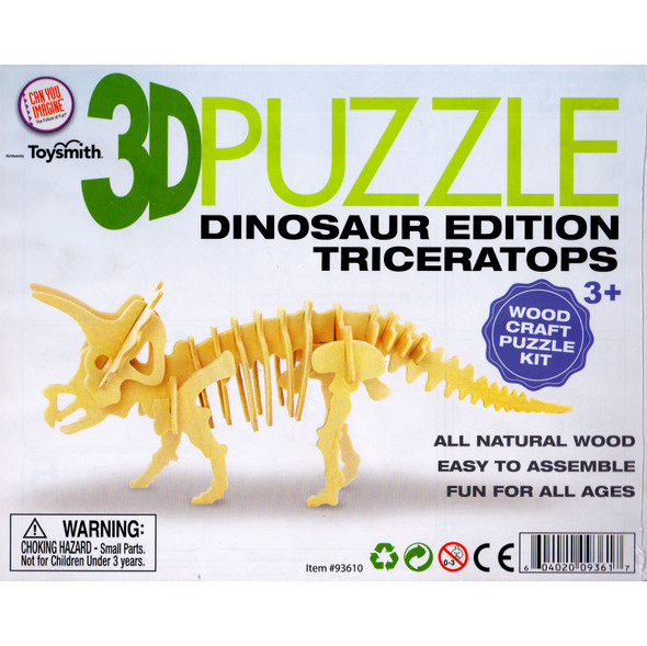 Wooden 3D Puzzle Triceratops