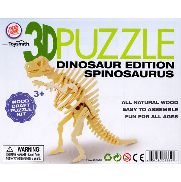 Wooden 3D Puzzle Spinosaurus