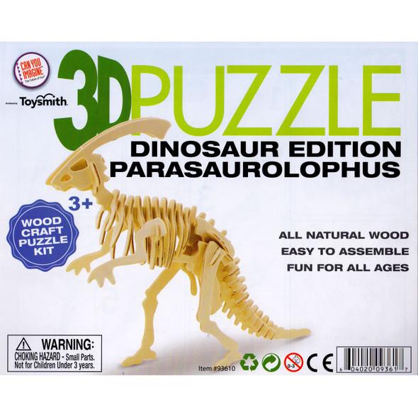 Wooden 3D Puzzle Parasaurolophus