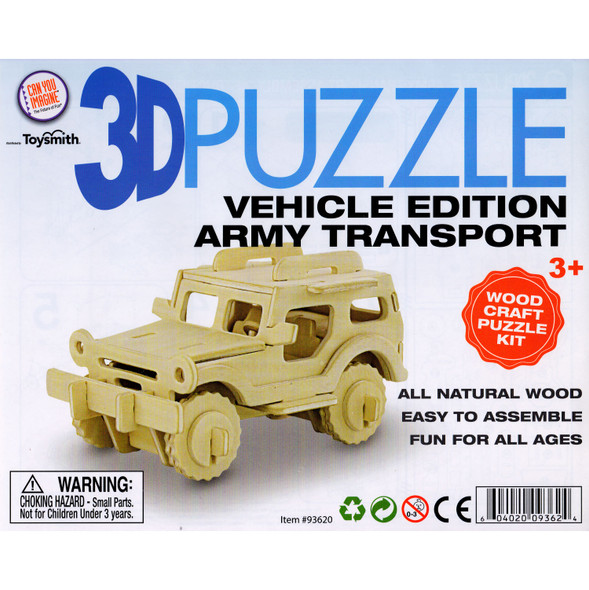Wooden 3D Puzzle Army Transport