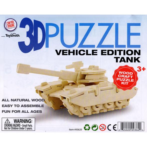 Wooden 3D Puzzle Tank