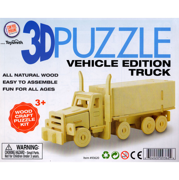 Wooden 3D Puzzle Truck