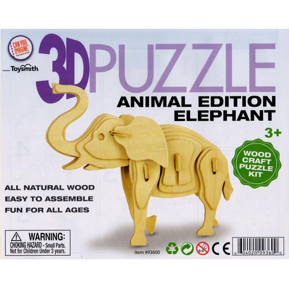 Wooden 3D Puzzle Elephant