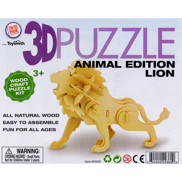 Wooden 3D Puzzle Lion