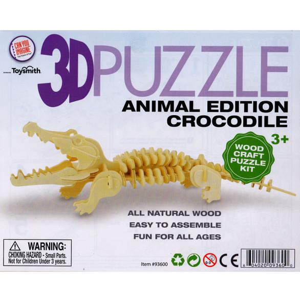 Wooden 3D Puzzle Crocodile