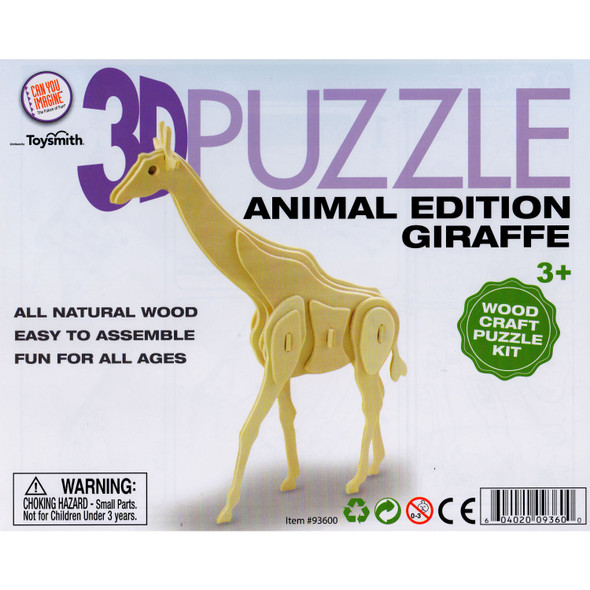 Wooden 3D Puzzle Giraffe