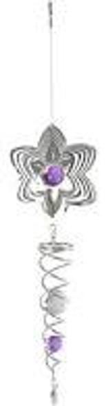 Flower Suncatcher with Purple Marble Accent