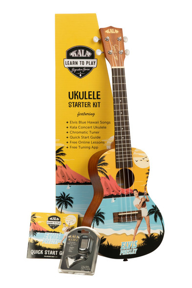Ukulele Starter Kit  - Elvis Presley Blue Hawaii Edition
