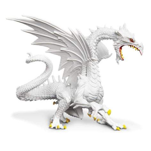 Glow-in-the-Dark Snow Dragon Figurine