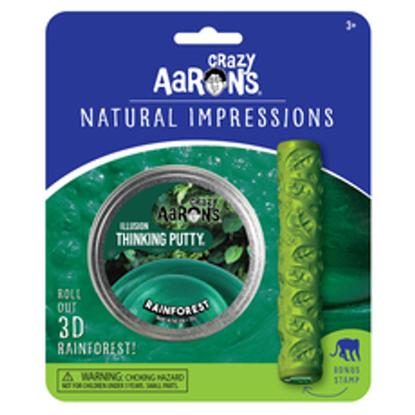 Crazy Aaron's Rainforest Natural Impressions Thinking Putty