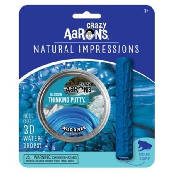 Crazy Aaron's Wild River Natural Impressions Thinking Putty