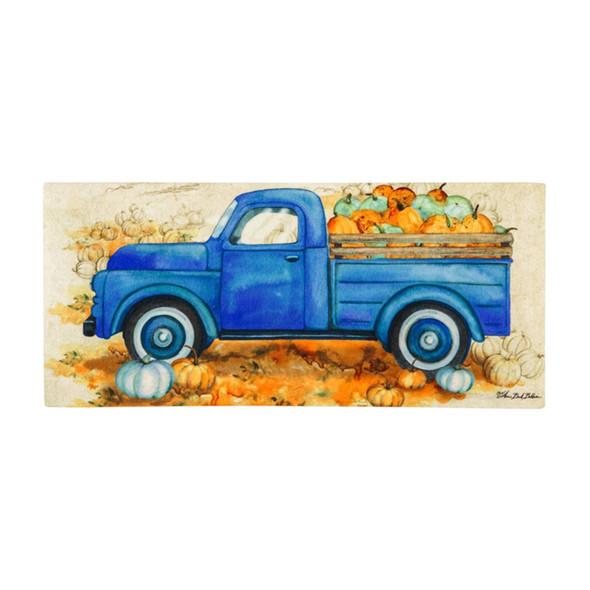 Pumpkin Farm Truck Sassafras Mat Insert