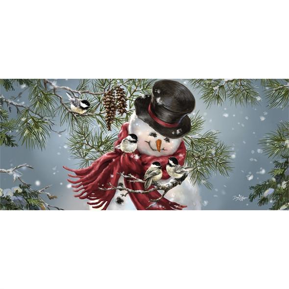 Snowman Snuggles Sassafras Mat Insert