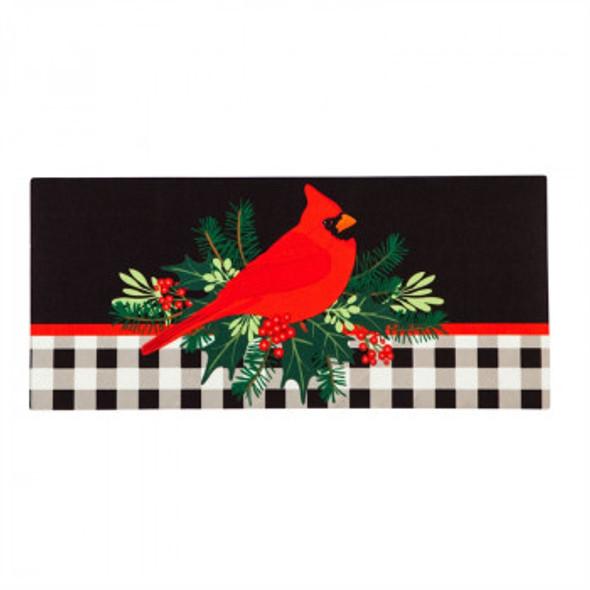 Christmas Cardinal Sassafras Mat Insert
