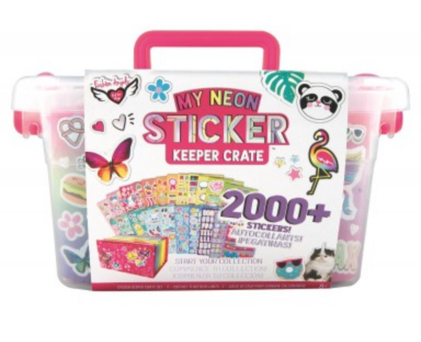 Neon Sticker Keeper Crate