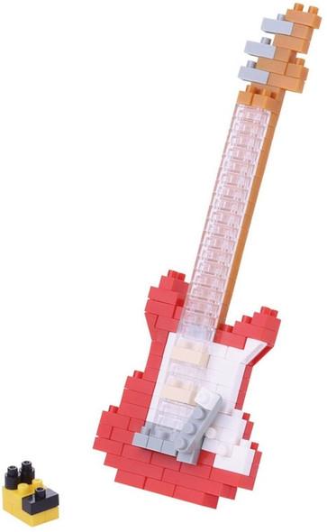 Red Electric Guitar Nanoblocks