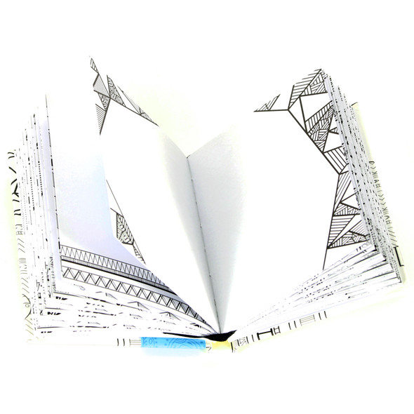Geometric Pocket Coloring Journal