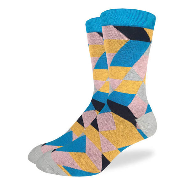 Blue and Yellow Relativity Socks