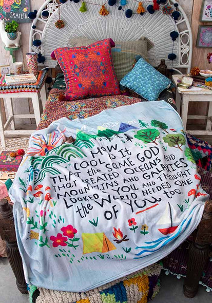 God Created You Tapestry Blanket