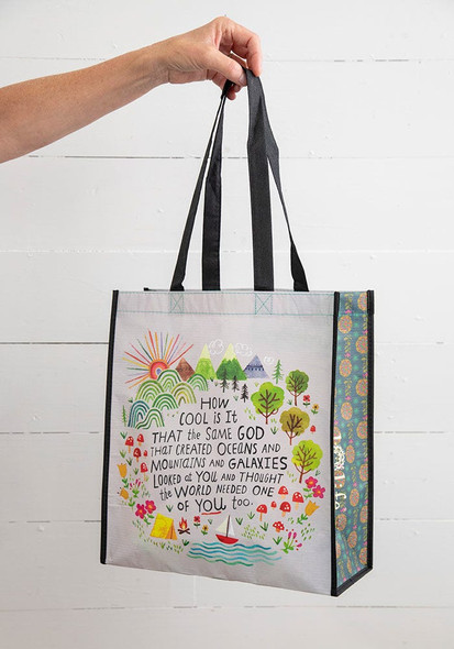 God Created You Plastic Tote