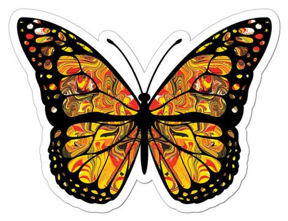 Monarch Butterfly Art Sticker