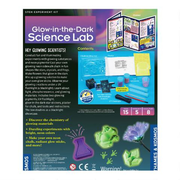 Glow-in-the-dark Science Lab Experiment Kit