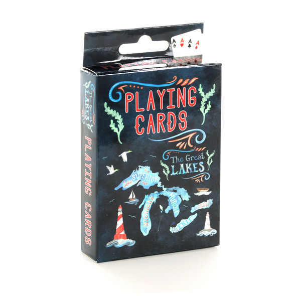 Watercolor Great Lakes Playing Cards