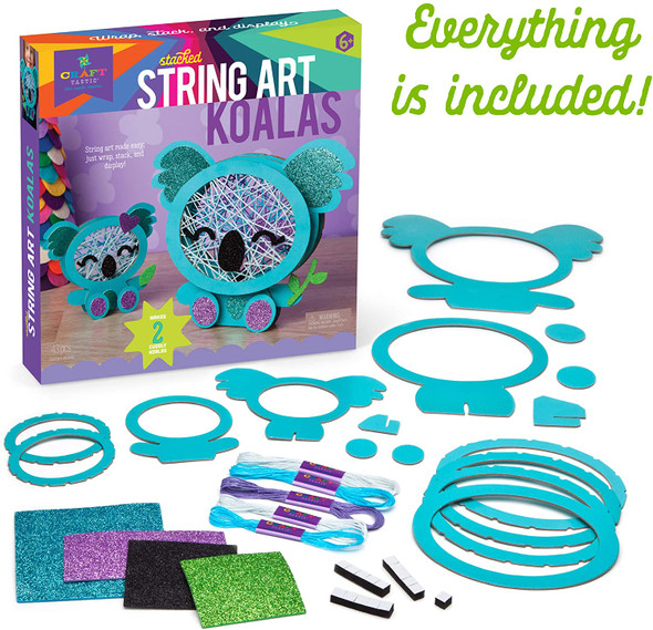 Stacked String Art Koalas