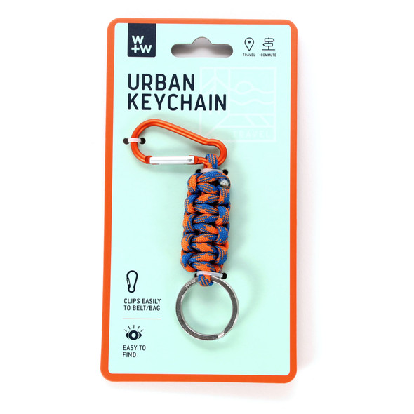 Urban Keychain - Blue and Orange