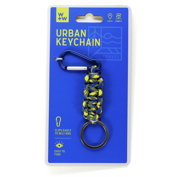 Urban Keychain - Yellow and Blue