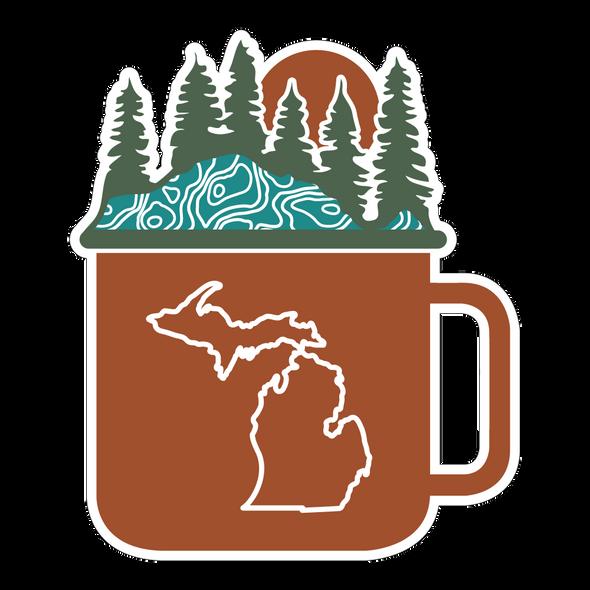 Michigan Mug Sticker
