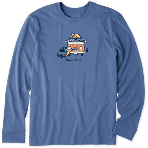 Jake & Rocket Road Trip retro long sleeve tee