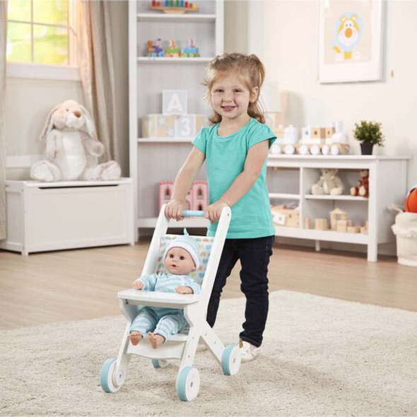 Doll Wooden Stroller Set